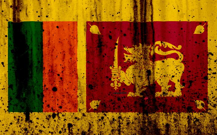 Download Wallpapers Sri Lanka Flag 4k Grunge Flag Of Sri Lanka