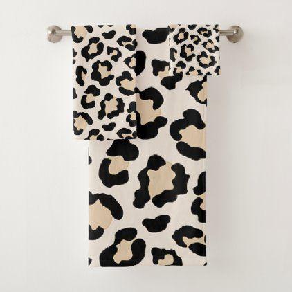 Leopard print bath towel set | Zazzle.com | Leopard print ...