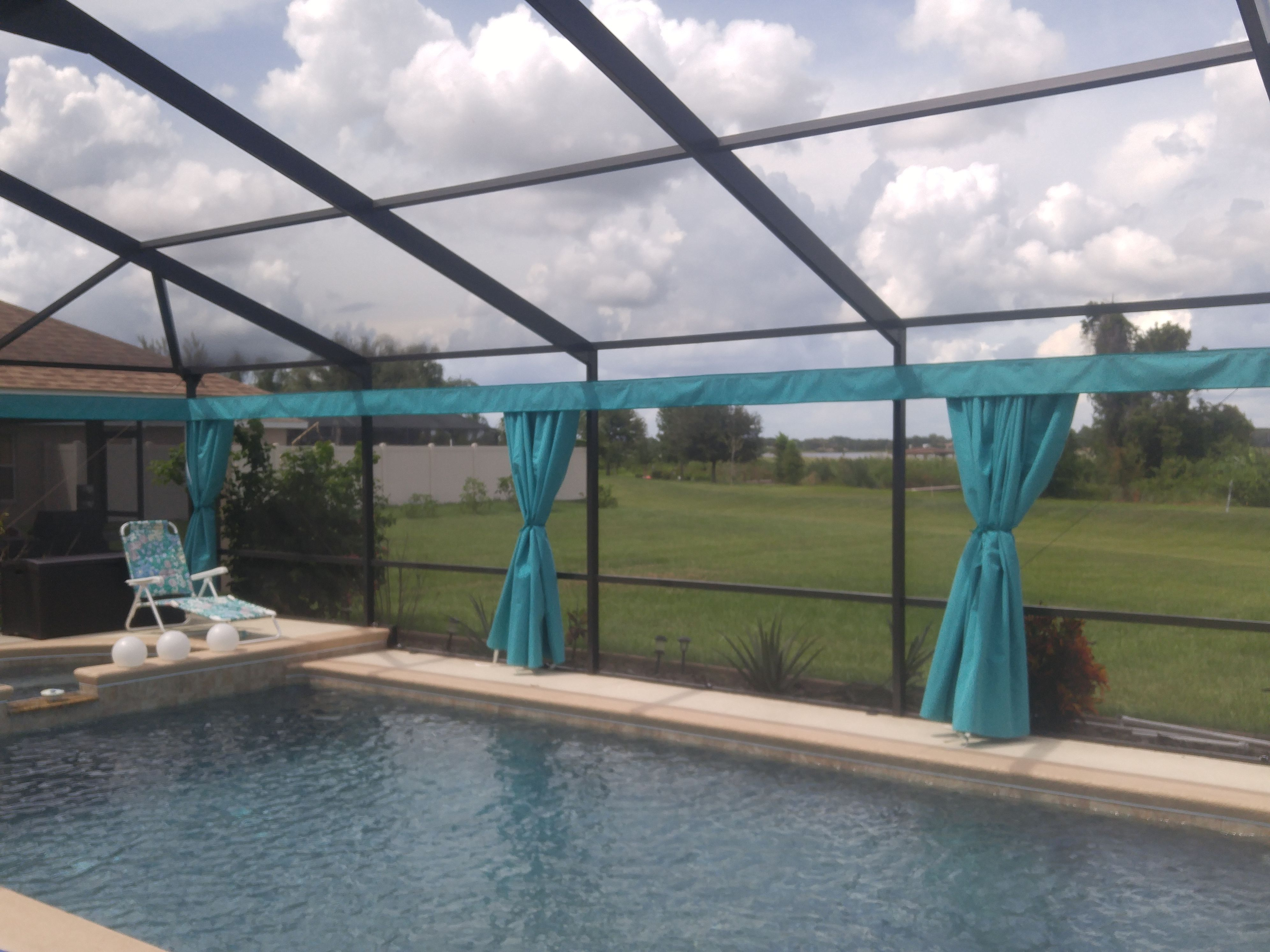 Pin By Privacy On Demand Inc On Outdoor Privacy Curtains Outdoor Privacy Pool Screen Enclosure Outdoor Curtains
