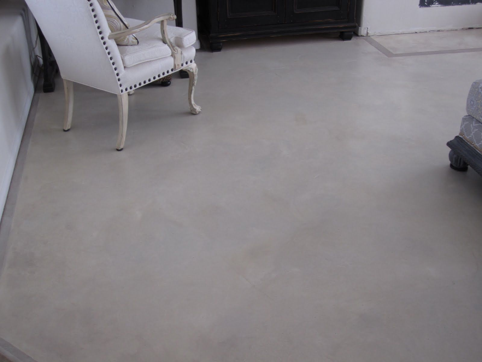 Classic white are painted concrete floors slippery ideas for Painting on concrete floor