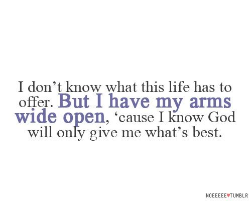 God | god will give me what's #best.