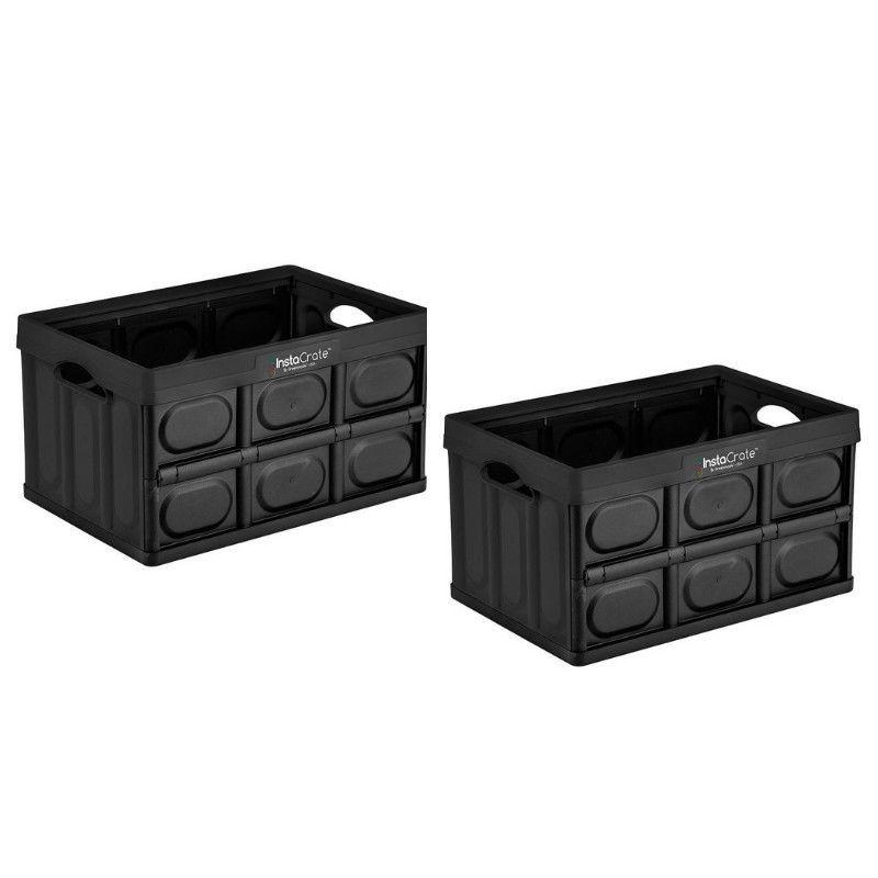 652d1f245069 InstaCrate Collapsible 12 Gallon Multi Purpose Storage Bin Container ...