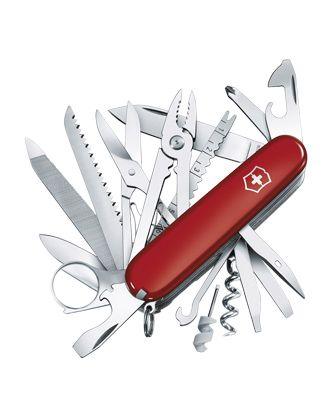 1172 Palacio De Hierro Swiss Champ Red Pocket Knife