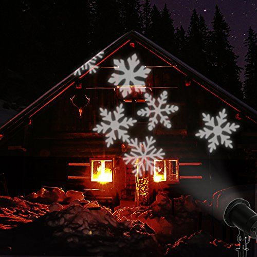 EAMBRITE LED Snowflake Projector Light Decorated Snowflake Spotlight