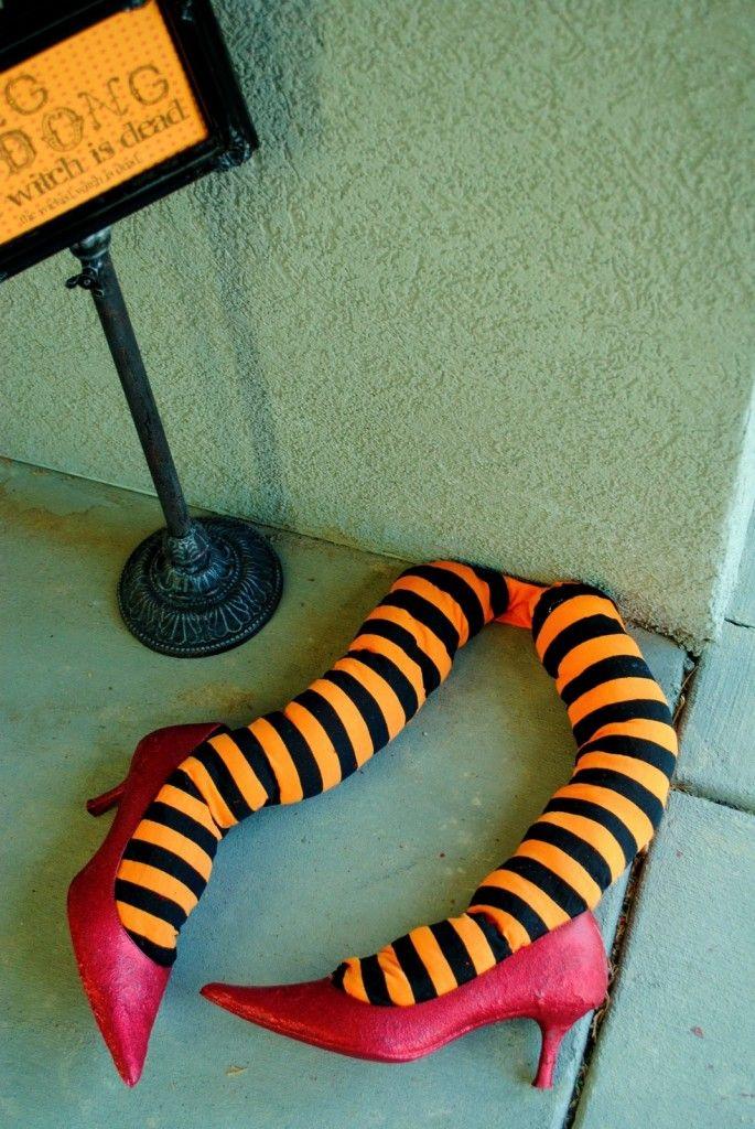 Best Simple  Scary DIY Outdoor Halloween Decorations Witches - halloween decorations at walmart