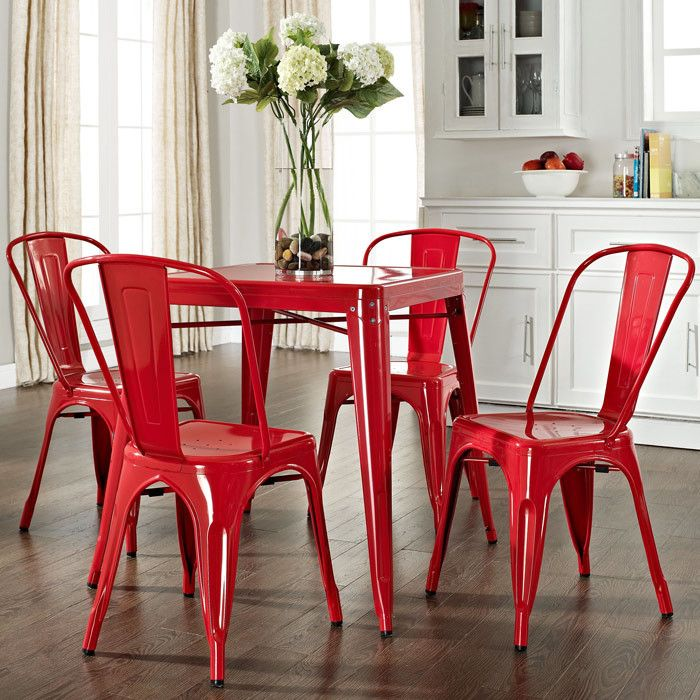 Red Tolix Chairs Perfect Little Chair For Indoor And Outdoor Use