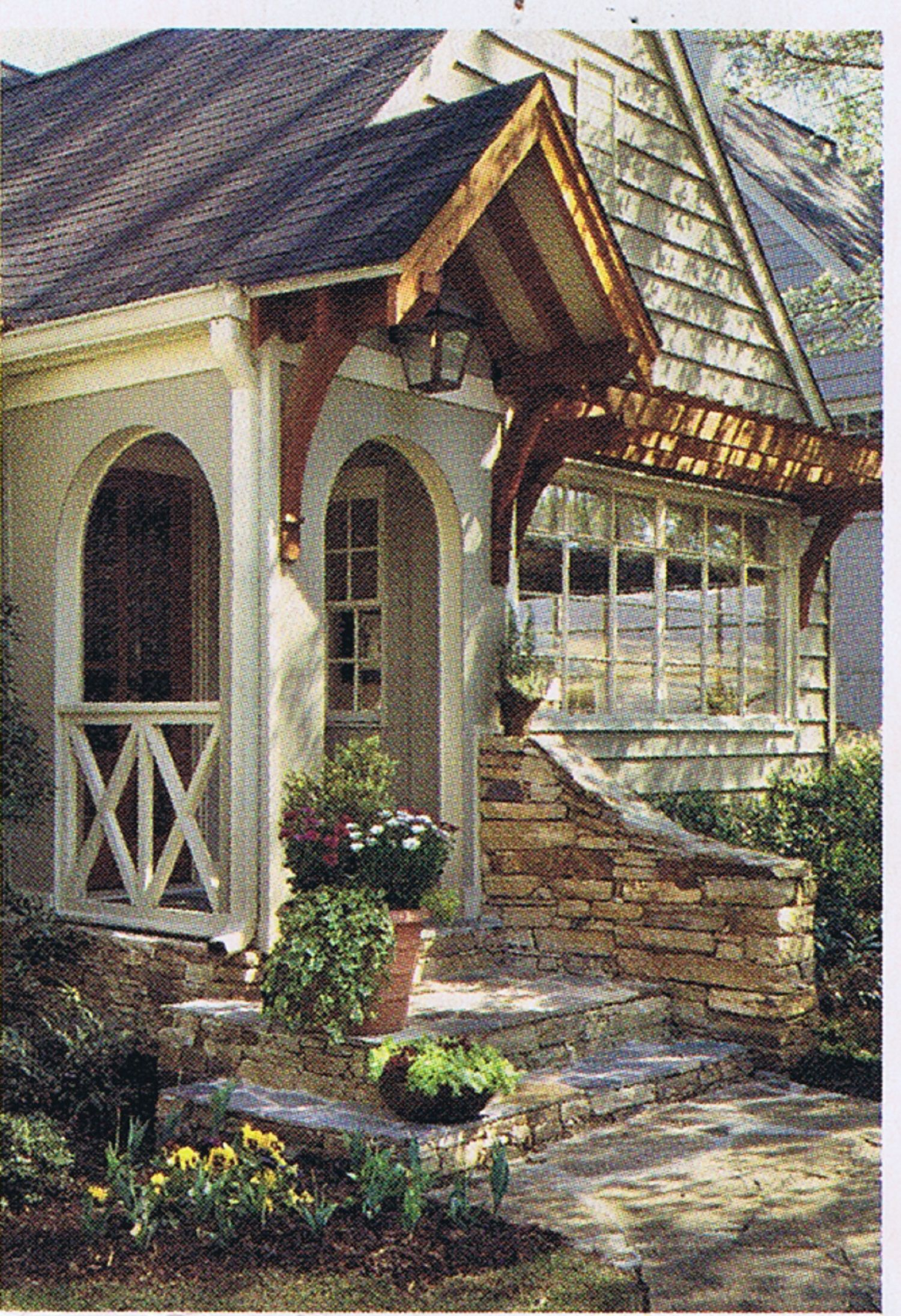 Lovely Little Portico And Beautiful Picture Window Very