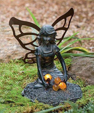 Another great find on #zulily! Solar Harvesting Fairy Figurine #zulilyfinds