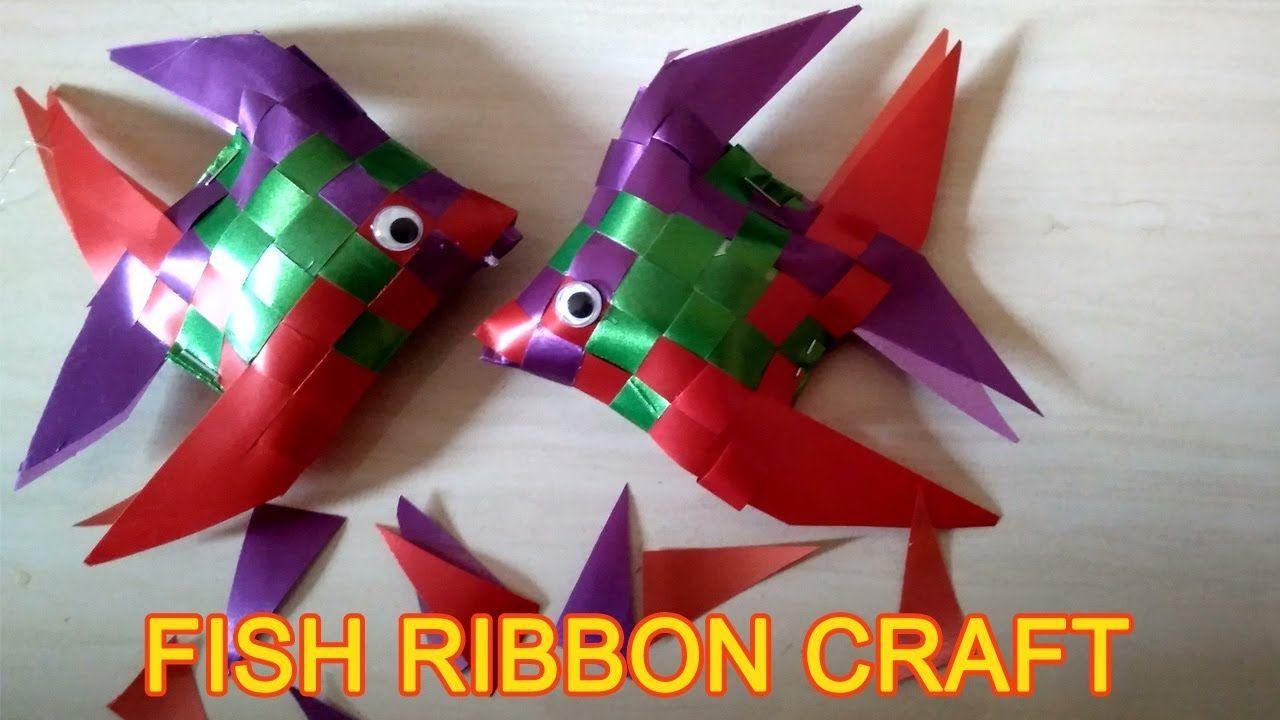 How To Make Fish Ribbon Craft Youtube Ribbon Crafts How To Make Fish Paper Flowers Craft