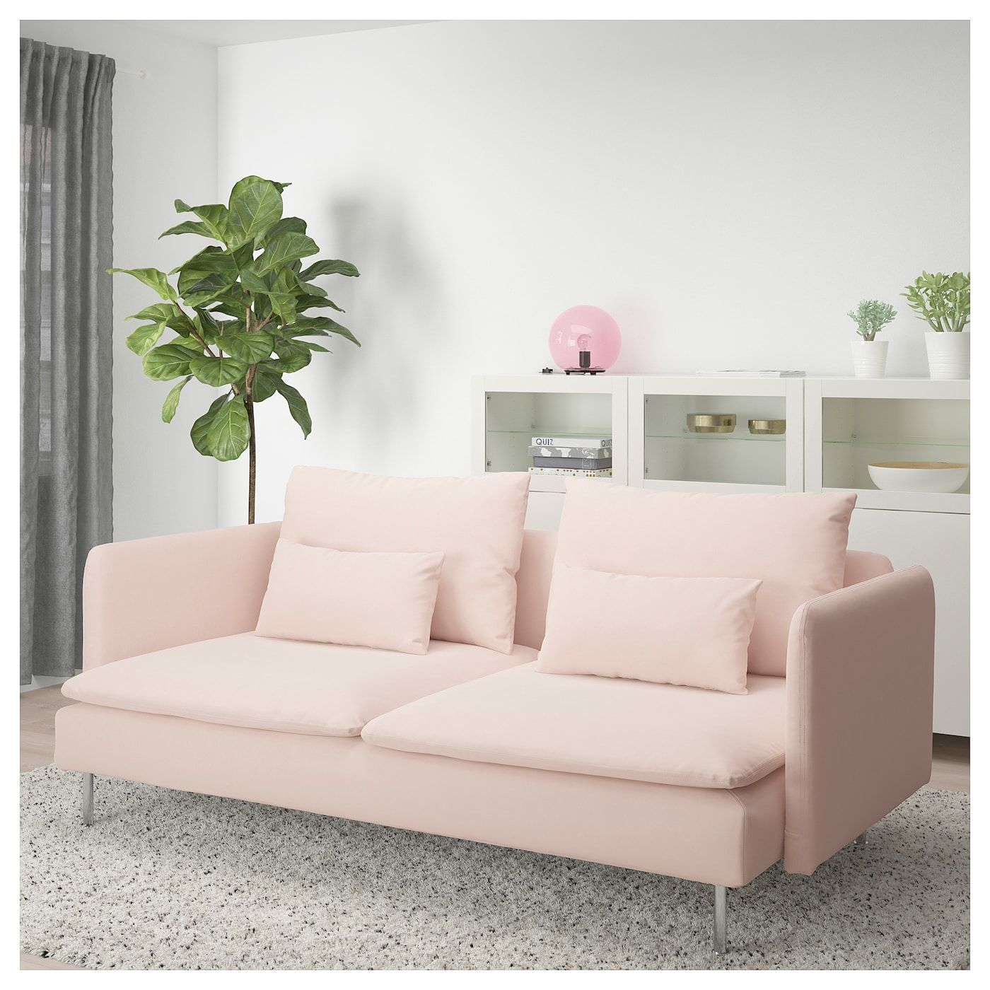 SÖDERHAMN Sofa Samsta light pink Sofa, Ikea