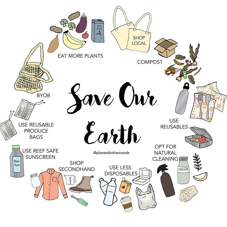 "Rachael + Scott Johnston on Instagram: ""Save our Earth � #worldenvironmentday . . Just a few ways you can help save our beautiful earth. It's not about doing everything, it's…"""