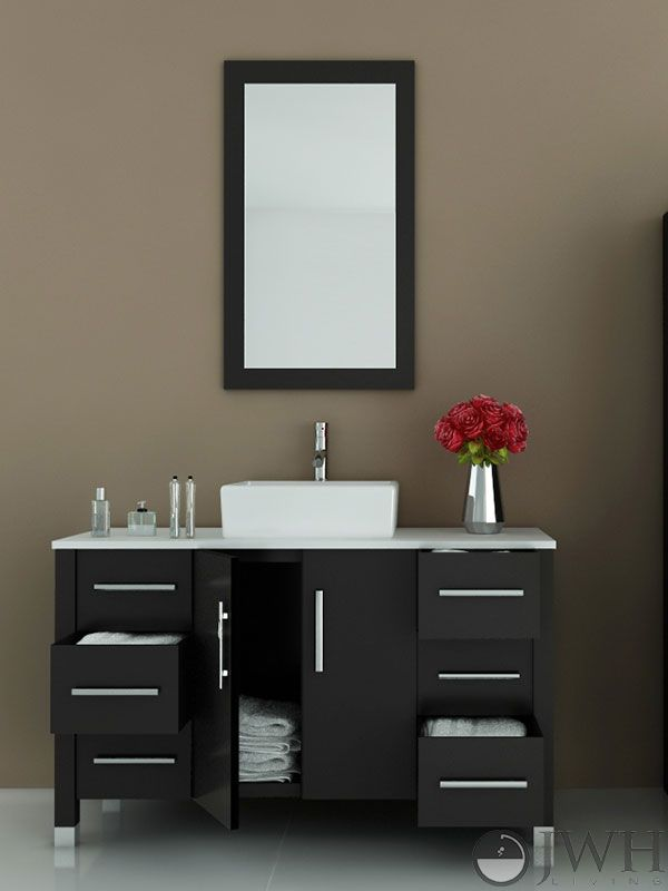 47 Grand Crater Single Vessel Sink Vanity If You Like Sleek Modern Designs In Your Bathroom With Images Single Bathroom Vanity Vanity Design Bathroom Vanity Designs