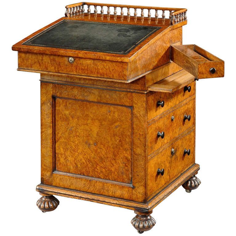 Regency Pollard Oak Davenport made and stamped by Gillow | From a unique collection of antique and modern commodes and chests of drawers at http://www.1stdibs.com/furniture/storage-case-pieces/commodes-chests-of-drawers/