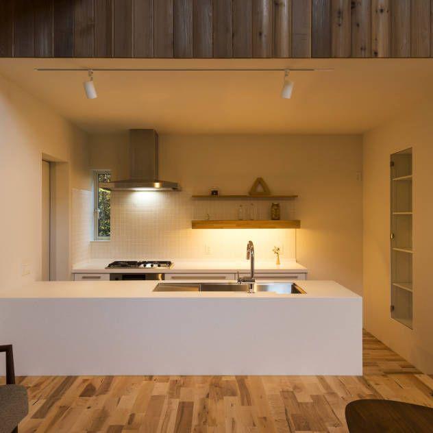 キッチンのレイアウト画像 リフォーム実例 収納 和モダン キッチン