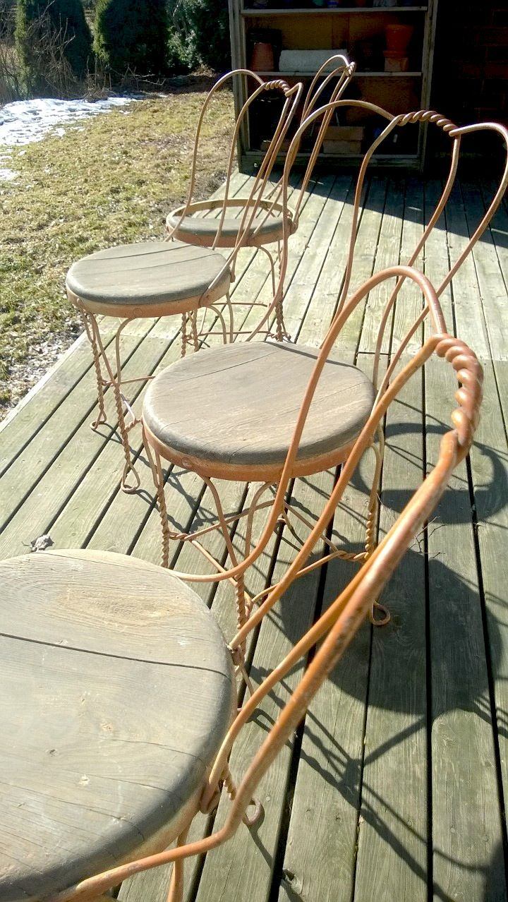 Rustic garden chairs from the 1940's.