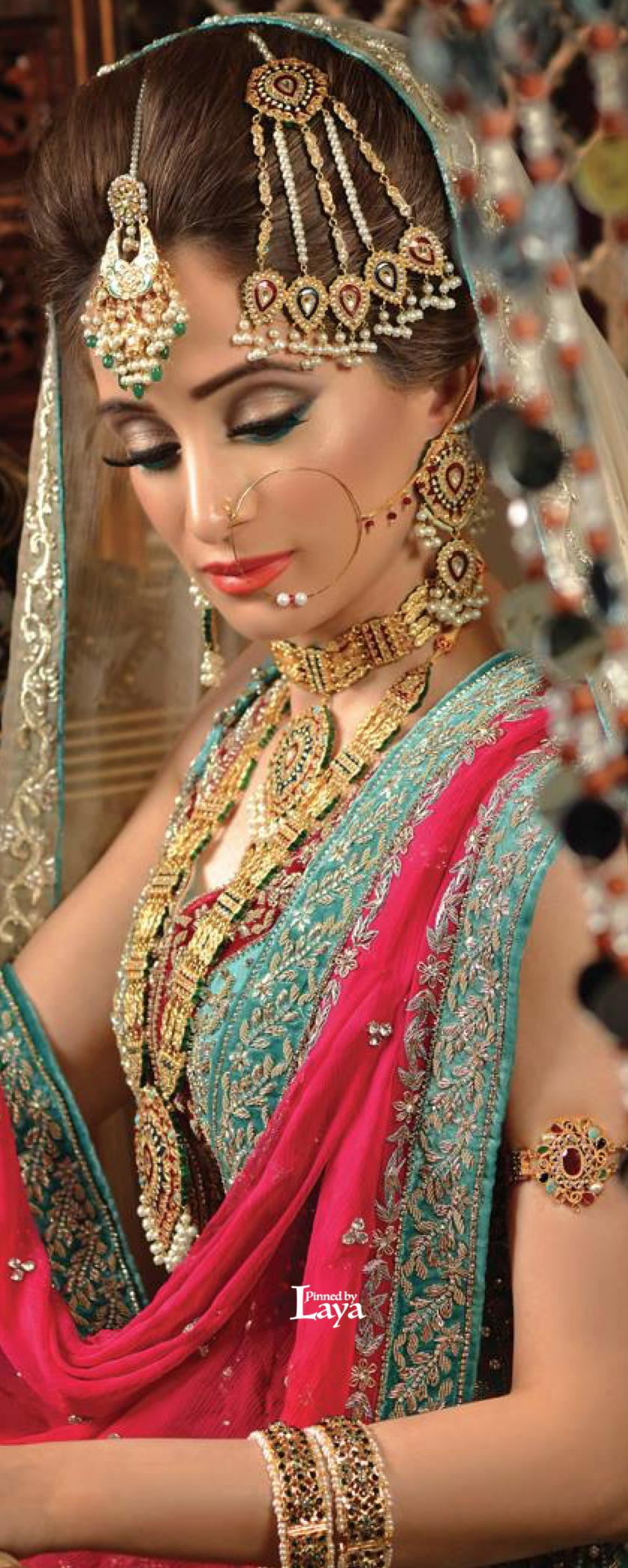 ♔LAYA♔INDIAN BRIDE♔ Pakistani makeup looks, Pakistani