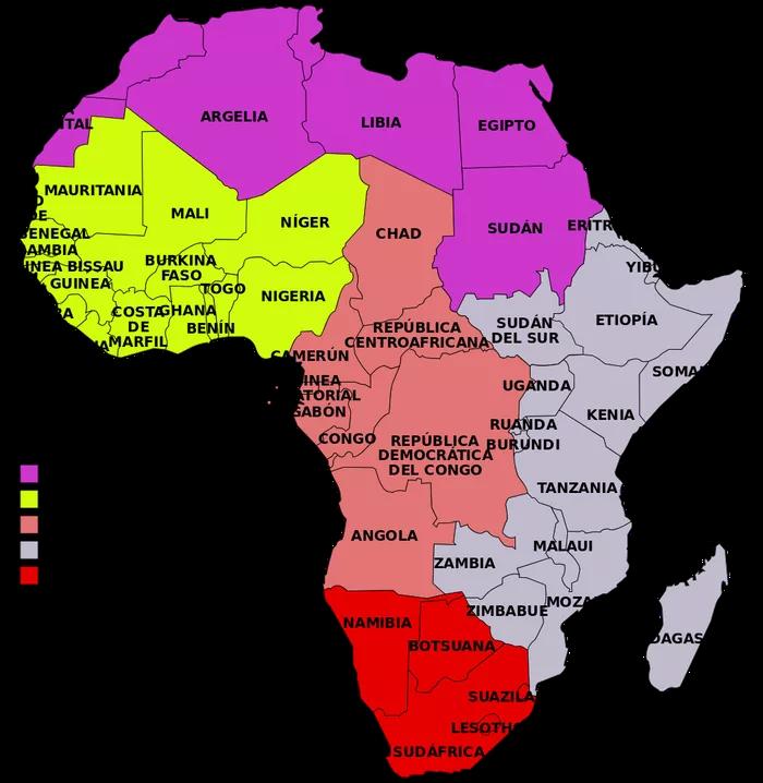 Cuales Son Las Regiones De Africa Búsqueda De Google Africa Mapa Geografía Mundial Uganda