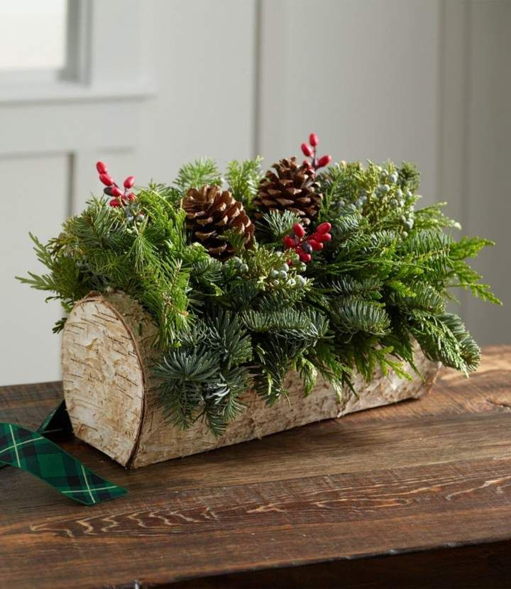 Photo of Christmas Yule Log Centerpiece. Add this beautiful centerpiece to your Christmas…