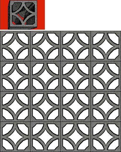 Mid Century Decorative Concrete Screen Block Arsitek