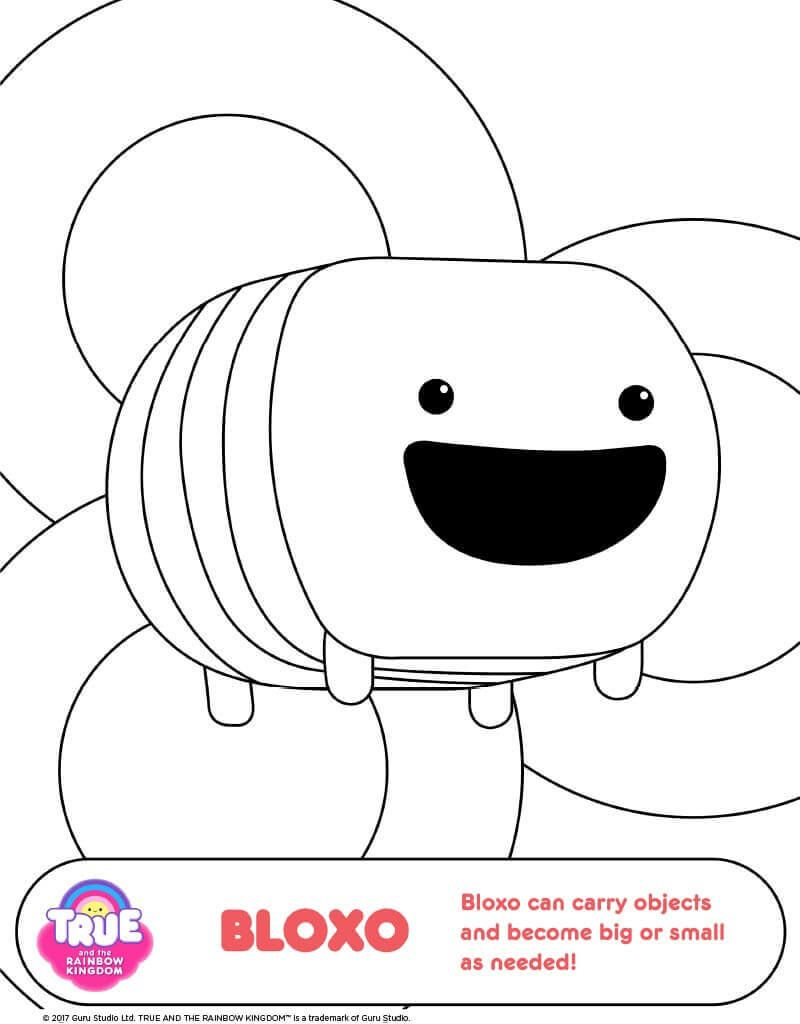 15 Free Printable True And The Rainbow Kingdom Coloring ...