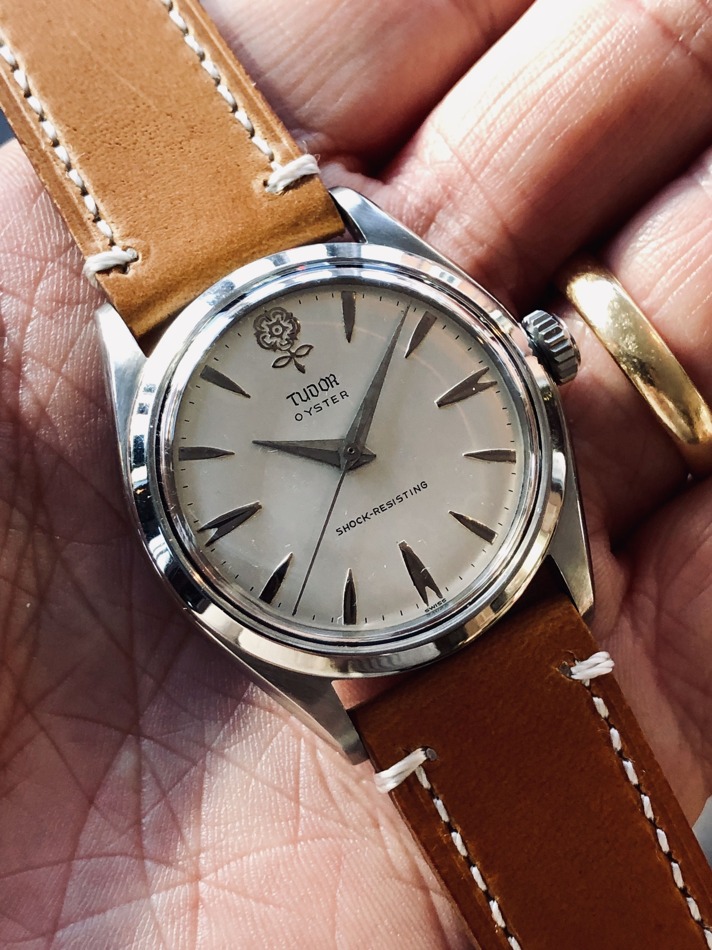 Tudor Big Rose Ref 7934 Mechanical vintage men's watch  #vintagewatches