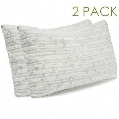 Clara Clark Rayon Bamboo Shredded Memory Foam Pillow Coolpillow Cool Pillow Bed Pillows Gel Pillow Memory Foam