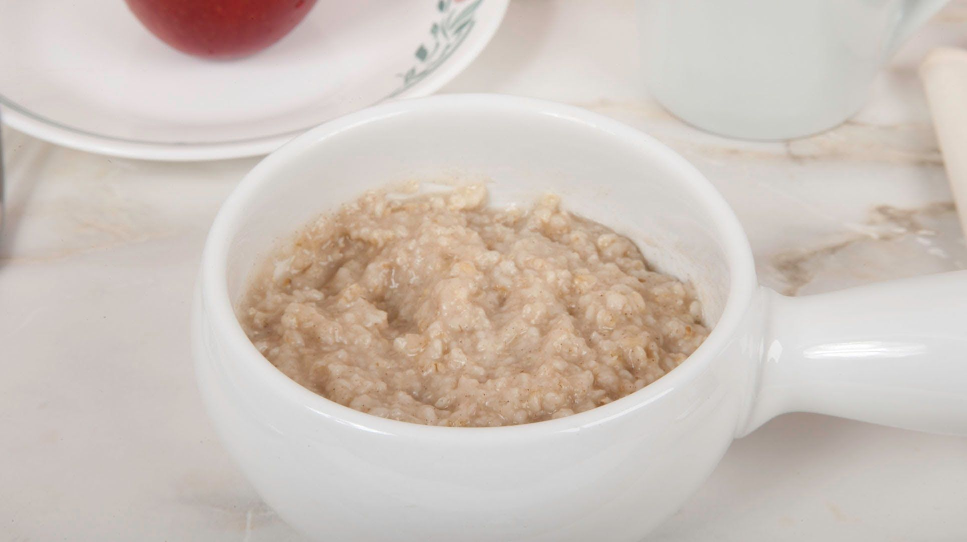 Homemade oatmeal without preservatives and artificial