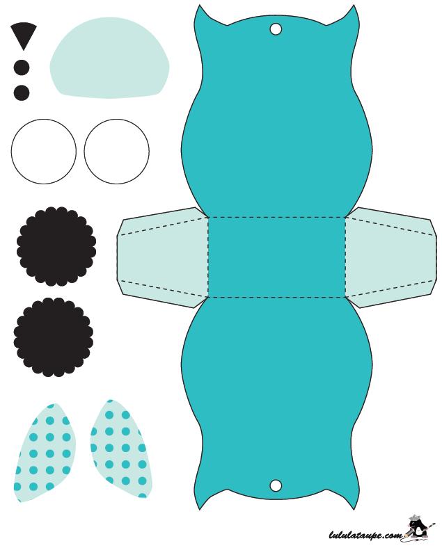 activit manuelle simple une bo te en forme de hibou d couper id es cr atives pinterest. Black Bedroom Furniture Sets. Home Design Ideas
