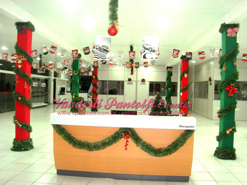 Enfeite De Loja ~ decoraçao de natal em colunas de lojas Pesquisa Google decorações natalinas Pinterest