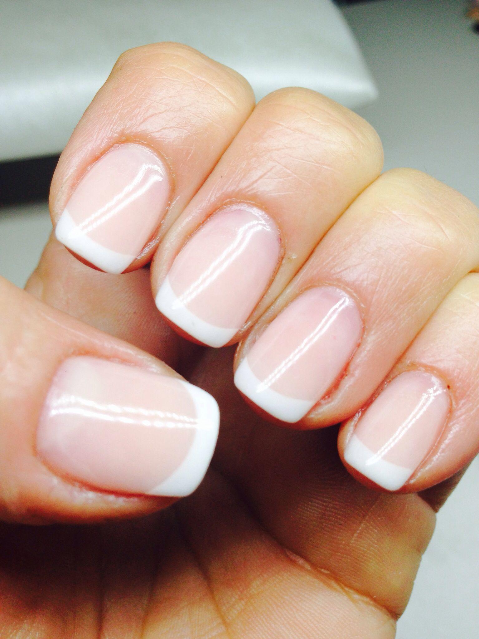 french natural nails nail design
