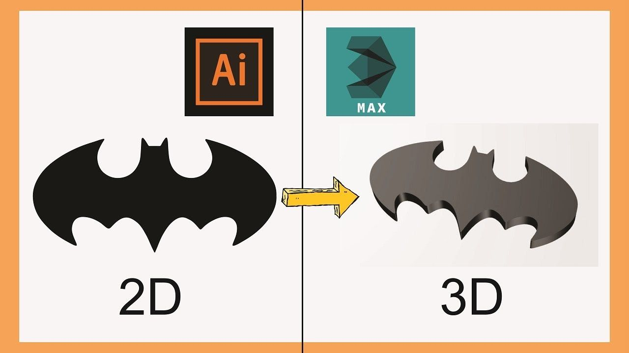 Convert 2d Image Into 3d Model In 3ds Max Illustrator To 3ds Max Tuto In 2020