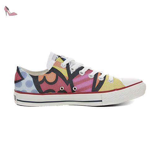 Converse Customized Adulte - chaussures coutume (produit artisanal) Hot Colore Paisley size 35 EU bNy1u8SwXa