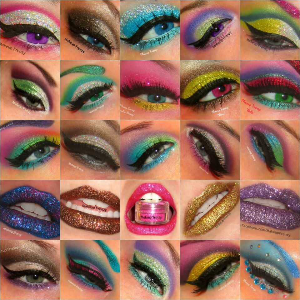 Makeup Frenzy Glitter Eyeshadow styles. Makeup, Eye
