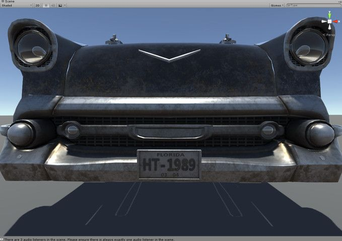 HQ Interactive classic car 1955, PBR, 3 styles.   3D Vehicles   Unity Asset Store