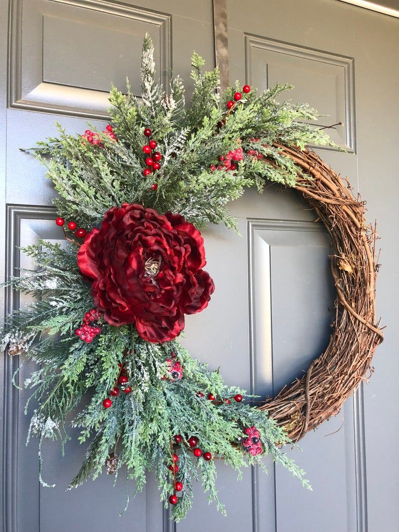 Photo of Extra large Christmas wreaths for front door, winter wreath, Christmas wreath, Christmas wreath, Christmas wreaths, Christmas wreath front door