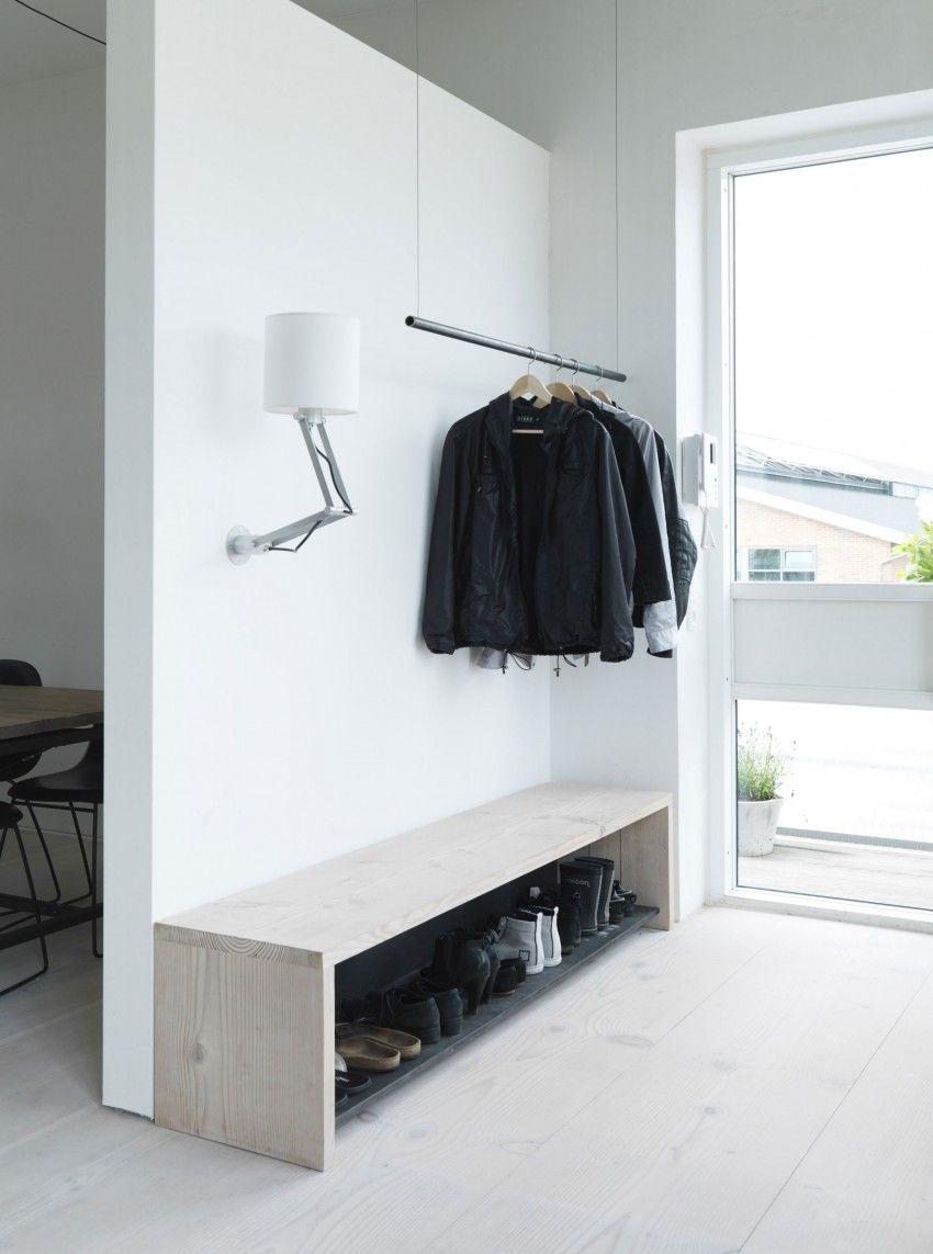 Hallway storage for coats  Scandinavian Design The Home of Morten Bo Jensen by Vipp