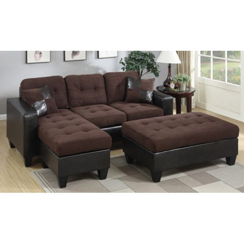 Fantastic Swain Reversible Sectional With Ottoman Leather Sectional Gmtry Best Dining Table And Chair Ideas Images Gmtryco