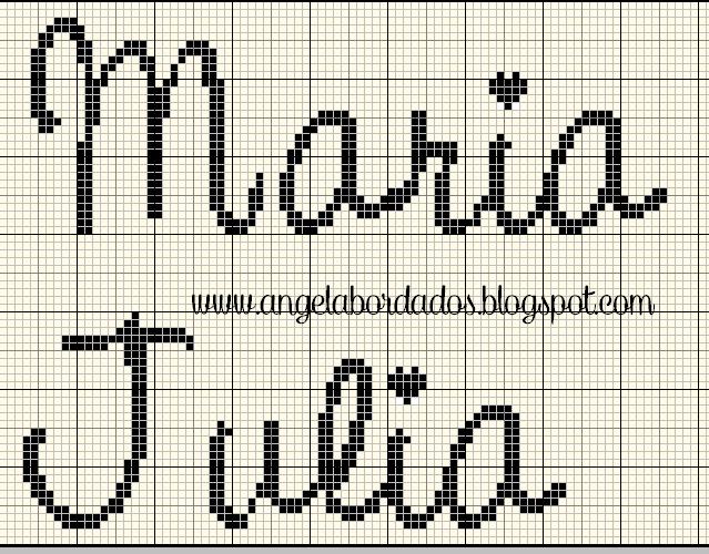 Ângela Bordados: nomes com M | PONTO CRUZ MONOGRAMAS | Pinterest