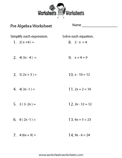 Pre-Algebra Review Worksheet | Homeschooling | Pinterest | Algebra ...