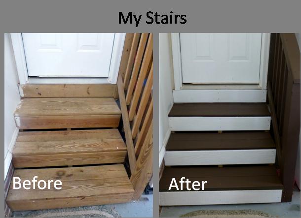Easy Garage Steps Makeover Garage Steps Garage Stairs Garage | Basement Stairs In Garage | Deck | Outside | Back | Epoxy Coating | Easy Diy
