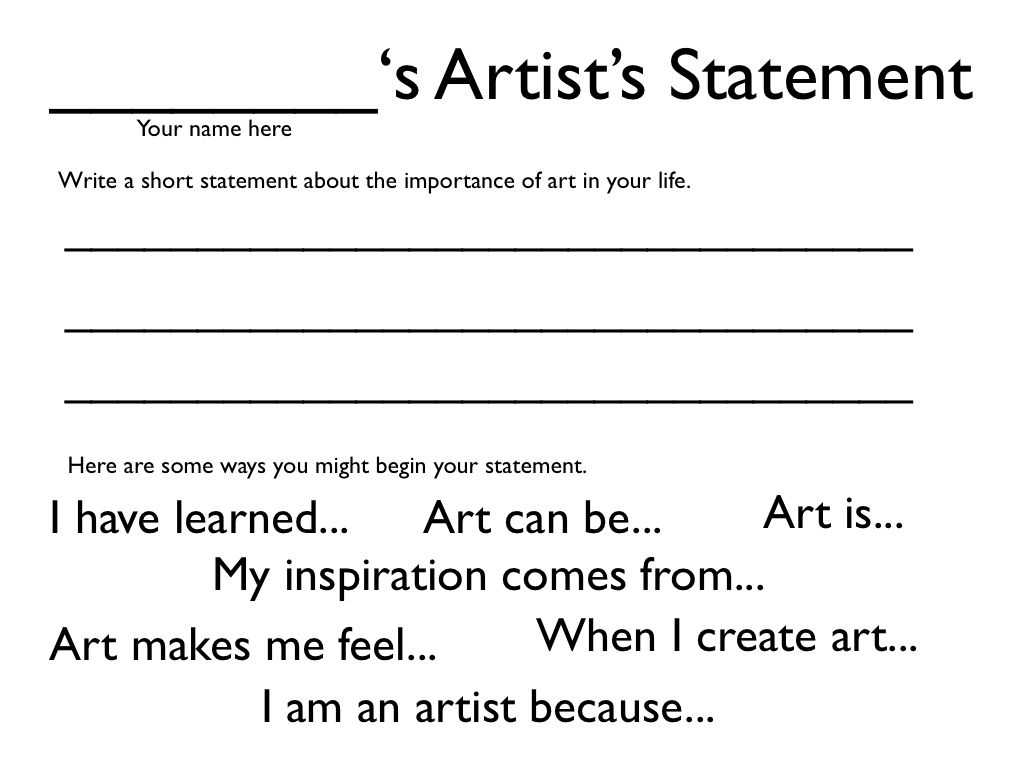 Art Thesis Statement Ideas
