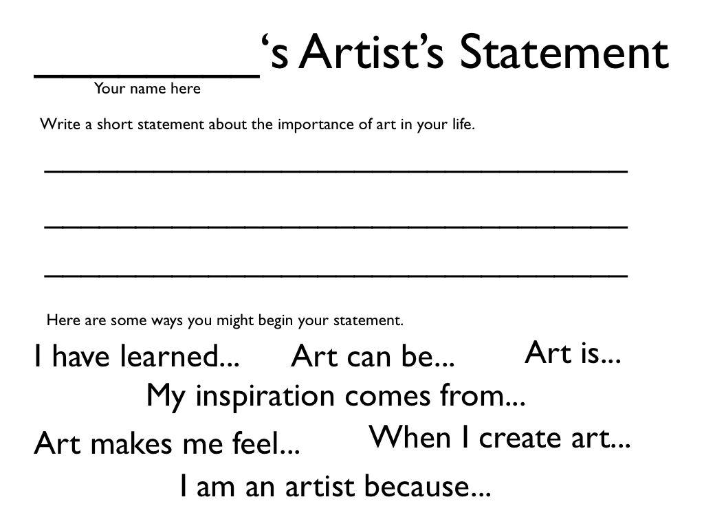 Category Artist Statement Artist Statement Artist Statement Template Art Critique