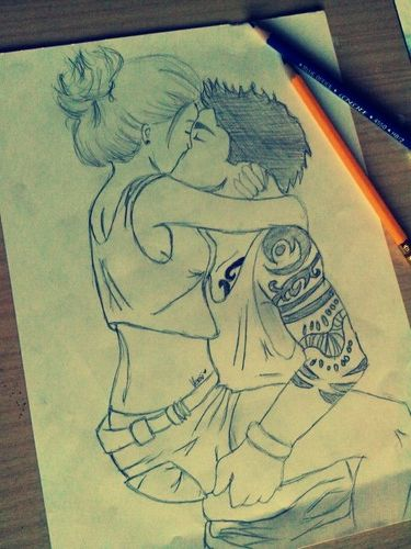 couple drawing..anyone else think this is so cute..even tho its a drawing??...no?..no...ok