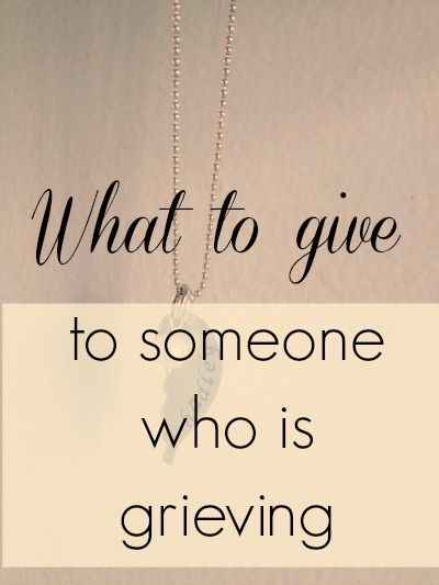This is a wonderful list if you ever need to give a gift to a parent who has lost a child. What to give to someone who is grieving