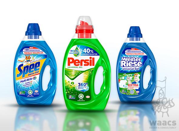 Henkel Persil Detergent Bottle Packaging Design