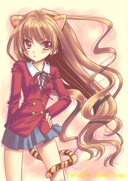 Introducing Some Cute Anime School Girls Vanilla Ver Anime Toradora Anime Neko