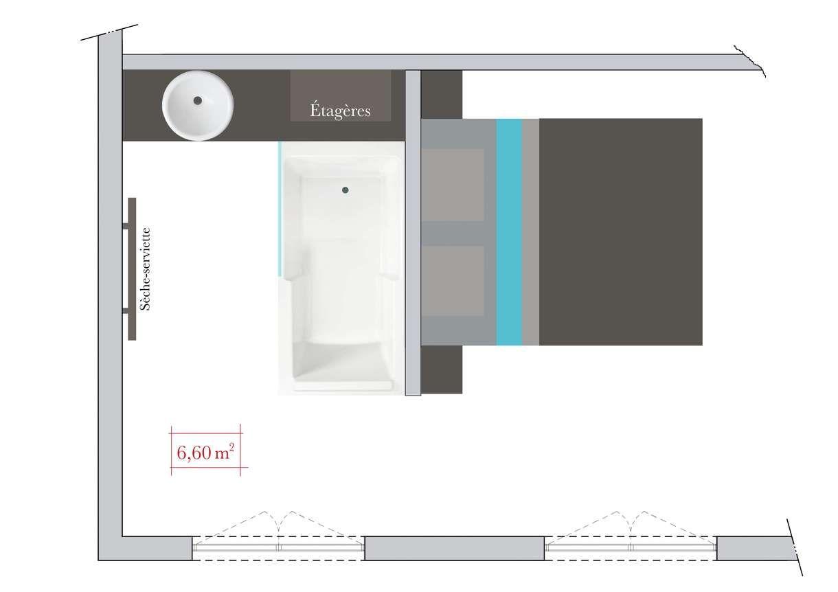 Salle De Bain Dans Chambre Plan ~ salle de bains ouverte sur chambre espace optimis derri re la t te