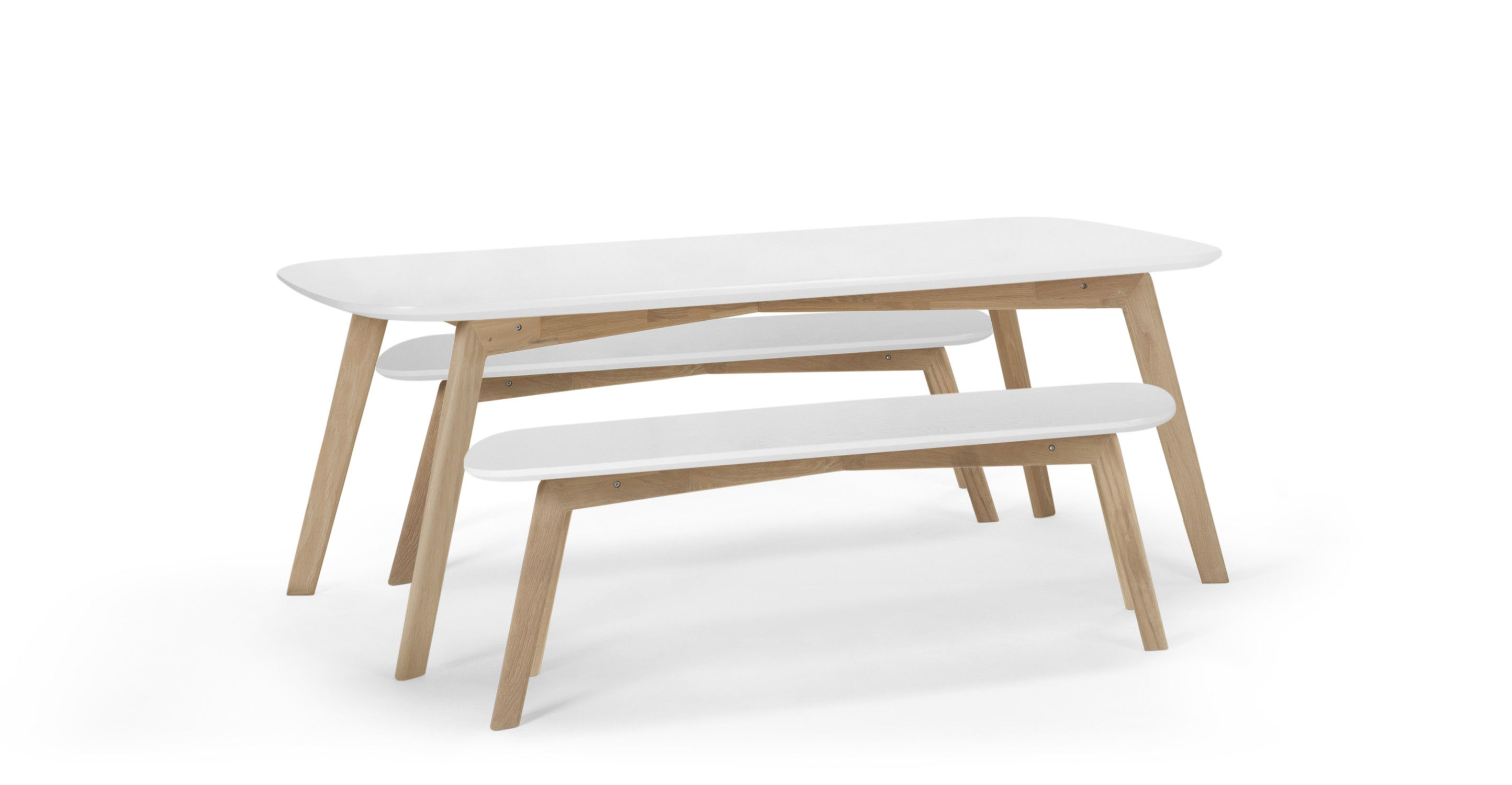 Dante Dining Table and Bench Set Oak and White  sc 1 st  Pinterest & Dante Dining Table and Bench Set Oak and White | Bench set Bench ...