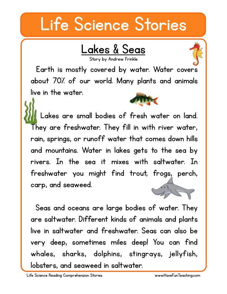 Lakes Seas Grade 4 Pinterest Lakes Reading Comprehension
