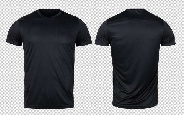 Download Black Sport T Shirts Front And Back Mock Up Template For Your Design T Shirt Design Template Sport T Shirt Shirt Mockup